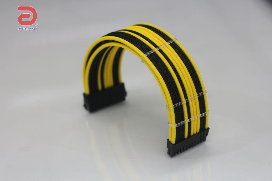 Cáp dây nguồn bọc lưới Scorpion 24 pin