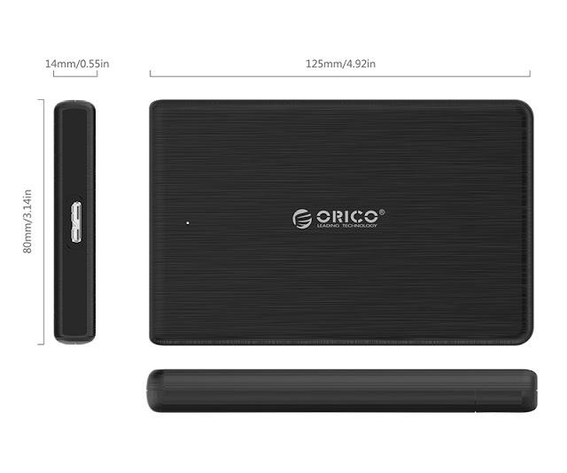 Hộp đựng ổ cứng Orico 2189U3 2.5Inch USB3.0 (Vỏ vân)