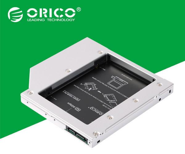 Khay lắp ổ SSD Orico L95SS cho laptop qua khay CD -Mỏng