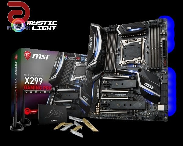 Main MSI X299 Gaming Pro Carbon AC(Chipset Intel X299/ Socket LGA2066/ None VGA)