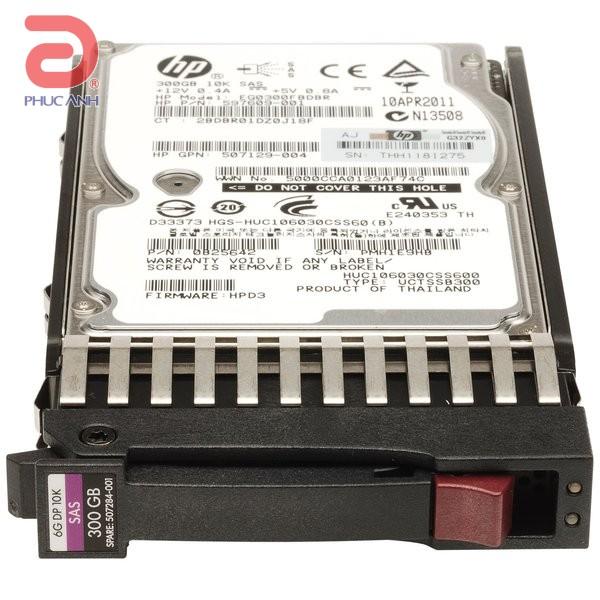 Ổ cứng server HP 300Gb 10.000rpm  SAS 2.5Inch - 507127-B21 - hàng nhập khẩu
