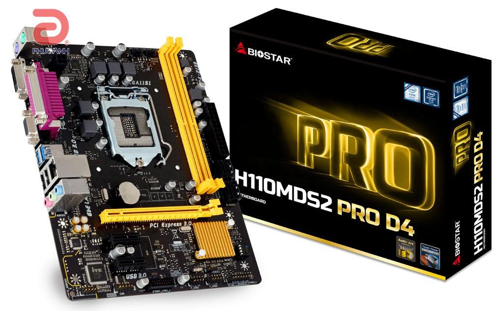 Main Biostar H110MDS2 PRO D4 (Chipset Intel H110/ Socket LGA1151/ VGA onboard)