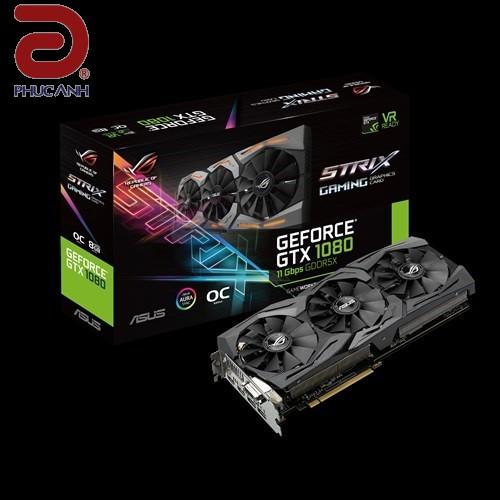 VGA Asus ROG-STRIX GTX1080-O8G-11GBPS (NVIDIA Geforce/ 8Gb/ DDR5X/ 352Bit)