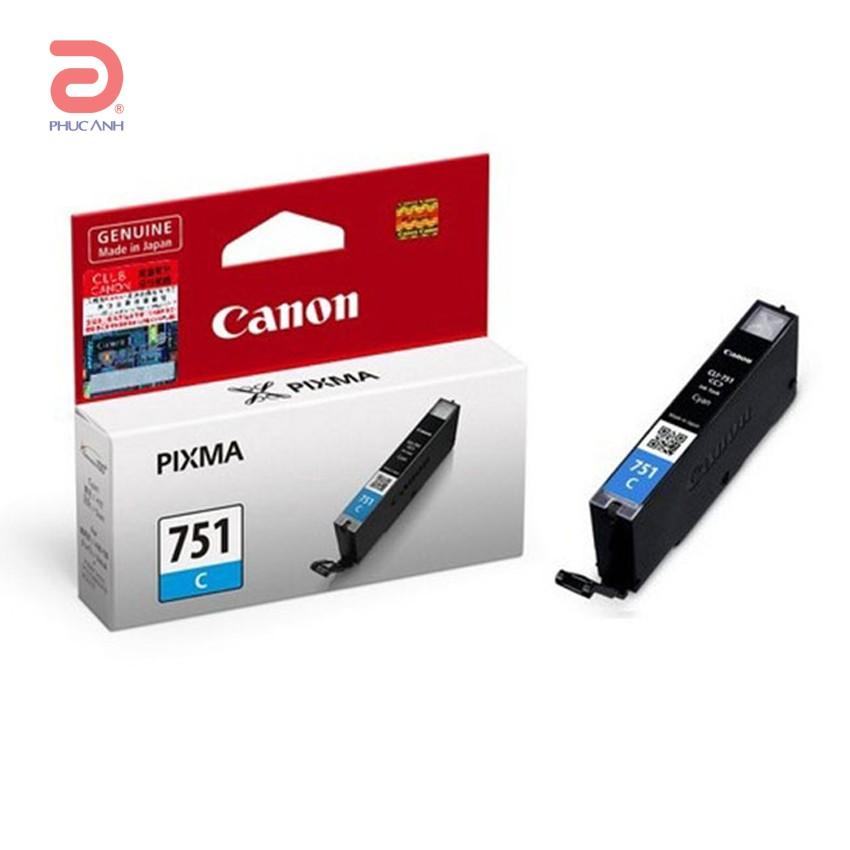 Mực hộp may in phun Canon CLI-751C dùng cho máy IP7270,MX727,MX927,MG6370,IX6870X,MG5470,MG5570,MG5670, MG5670,MG7170,MG7570