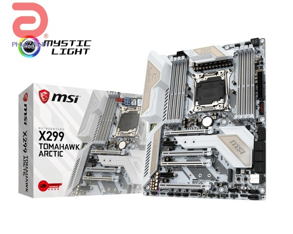 Main MSI X299 TOMAHAWK ARCTIC (Chipset Intel X299/ Socket LGA2066/ None VGA)