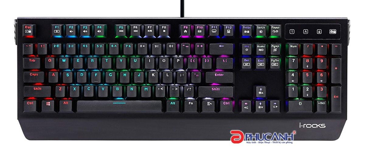 Bàn phím cơ I-Rocks K60M RGB Gaming CHERRY SWITCH (USB, Có dây)
