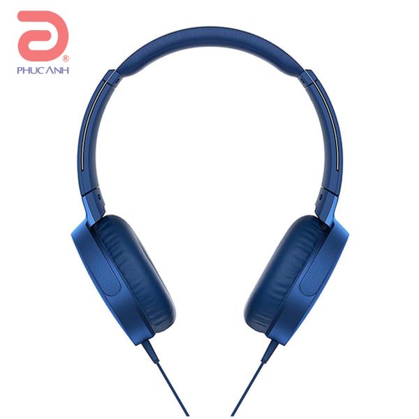 Tai nghe Sony MDR-XB550AP (Xanh Dương)