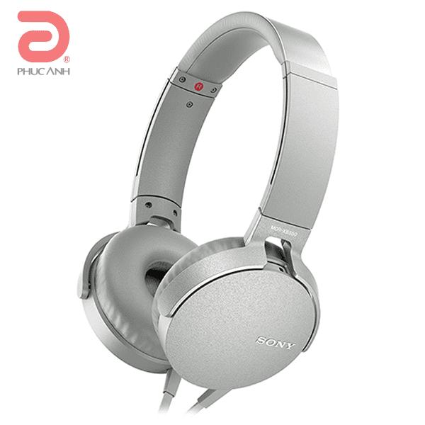 Tai nghe Sony MDR-XB550AP (Trắng)