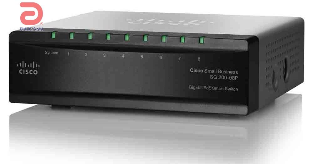 Thiết bị chia mạng Cisco  SLM2008PT-EU SG200-08P POE - Switch thông minh