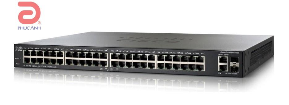 Thiết bị chia mạng Cisco SLM248GT-EU SF200-48 - Switch thông minh, Cổng quang