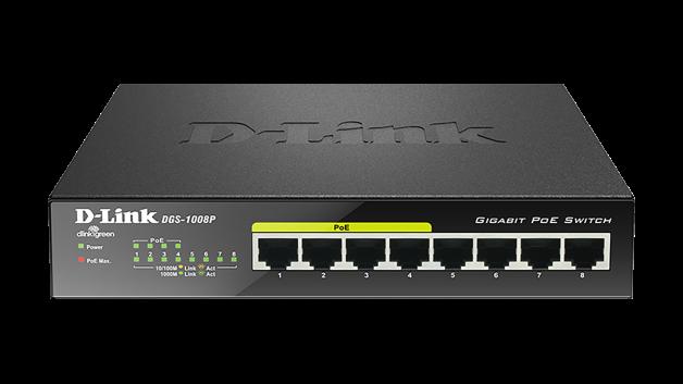 Thiết bị chia mạng D-link DGS-1008P POE