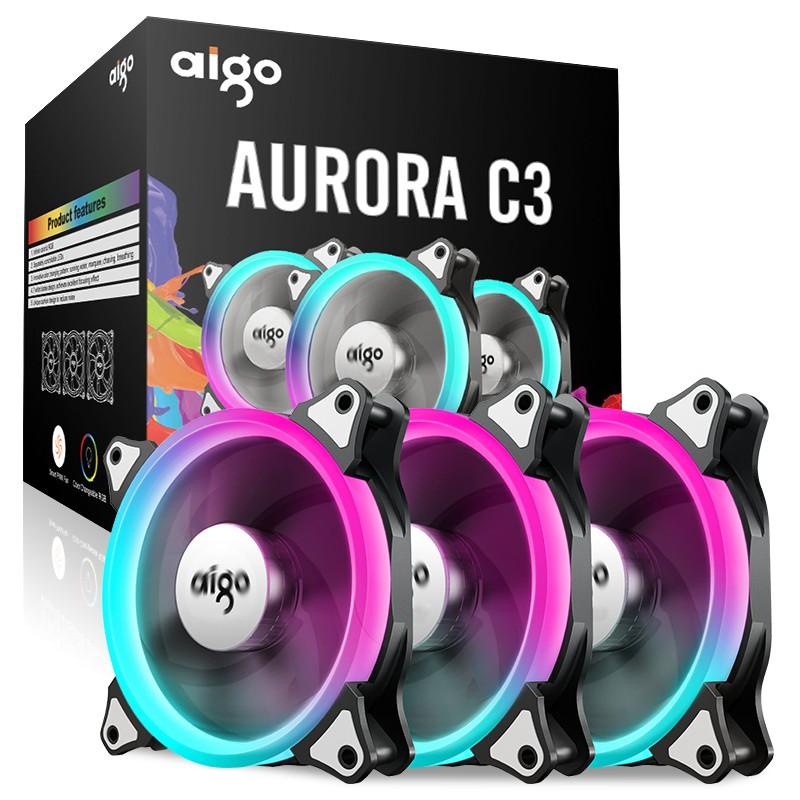 Quạt case Aigo Aurora C3 RGB (3PCS/PACK)