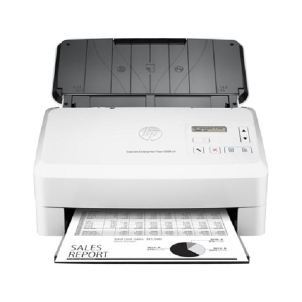 Máy scan HP Scanjet Enterprise Flow 5000 S4 là chiếc máy scan ADF nạp giấy tự động, đáp ứng tốt nhu cầu scan tài liệu của các công ty và cơ sở in ấn. Máy nổi trội nhờ thiết kế nhỏ gọn và cực kì tiện ích với chức năng in 2 mặt, bản scan chất lượng, rõ nét vượt mong đợi. 1) Máy scan năng suất cao, quét đa năng Máy scan HP Scanjet Enterprise Flow 5000 S4 sẵn sàng tự động hóa quy trình làm việc với chức năng quét nhanh chóng, scan hai mặt với khay giấy ADF lên đến 50 tờ. Năng suất hoạt động của máy có thể đạt 6.000 trang/ngày. Bạn thậm chí có thể nhanh chóng nắm bắt và chỉnh sửa văn bản từ tài liệu. Máy có tốc độ quét đáng ngạc nhiên 50 trang/phút tương đương 100 hình ảnh/phút. 2) Chất lượng ảnh quét sắc nét Với một chiếc máy scan thì yếu tố chất lượng hình ảnh là điều không thể bỏ qua. Máy scan HP Scanjet Enterprise Flow 5000 S4 mang lại hình ảnh sắc nét nhờ tính năng Auto hình ảnh trong phần mềm HP Scan. Người dùng có thể nắm bắt chính xác văn bản từ các tài liệu để chỉnh sửa dễ dàng với HP Scan và I.R.I.S. Readiris ™ Pro phần mềm OCR. Dòng máy này có thể scan các văn bản, đồ họa và hình ảnh với độ phân giải dpi lên đến 1200 x 1200dpi. 3) Tự động hoá với máy scan HP Scanjet Enterprise Flow 5000 S4 Máy scan HP Scanjet Enterprise Flow 5000 S4 quét trực tiếp vào các ứng dụng mà không cần mở chương trình khác với trình điều khiển TWAIN đầy đủ tính năng của HP. Dòng máy scan này sẽ giúp đơn giản hóa việc triển khai, cài đặt và thông báo sự kiện, tiết kiệm thời hơn với HP Smart Document Scan Software. Máy có thể sử dụng đối với các loại giấy (banner, in phun, photo, đồng bằng), bao thư, nhãn, thẻ với kích thước tối đa 216 x 3098 mm (ADF).