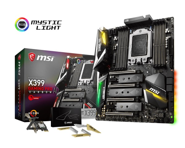 Main MSI X399 Gaming Pro Carbon AC (Chipset AMD X399/ Socket TR4/ None VGA)