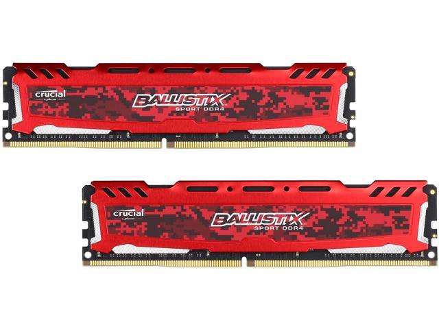RAM Crucial Ballistix Sport LT Red (2x4)8Gb DDR4 2400 (BLS2K4G4D240FSE)