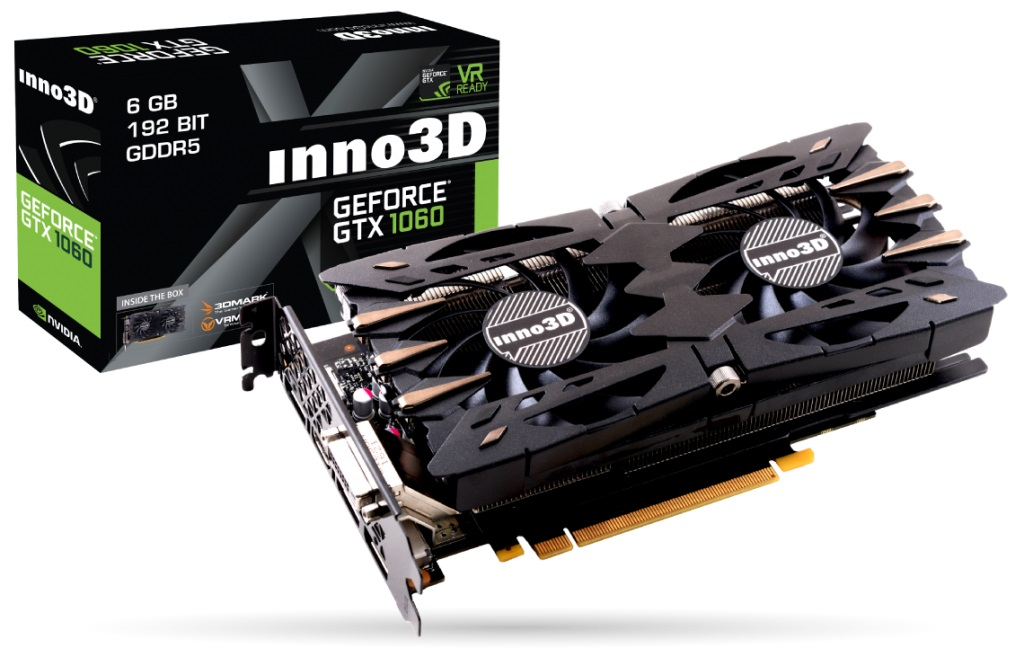 VGA Inno3D GTX1060 Twin X2 6Gb (NVIDIA Geforce/ 6Gb/ DDR5/ 192Bit)