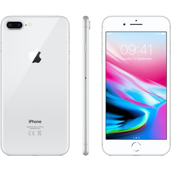 Apple iPhone 8 Plus  (Silver)- 5.5Inch/ 64Gb/ 1 sim