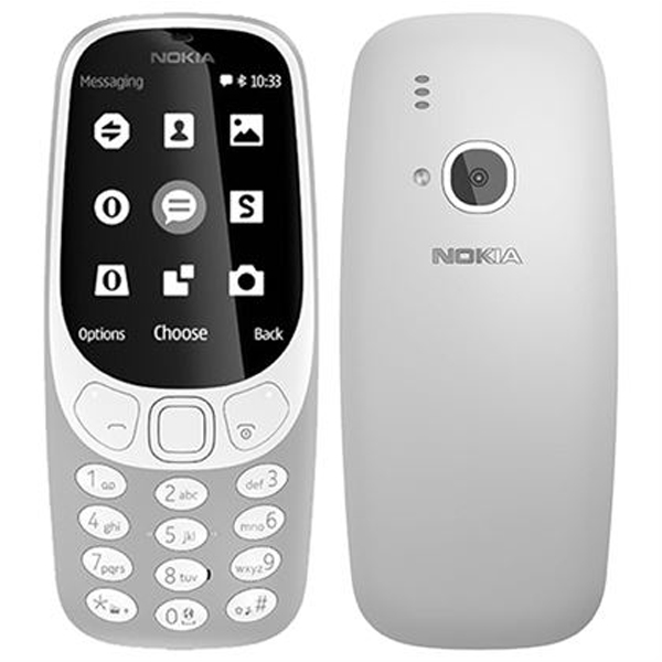 Nokia 3310 (2017) (Gray) - 2.8Inch/ 2 sim