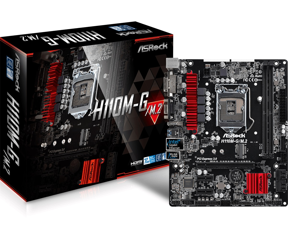Main Asrock H110M-G/M.2 (Chipset Intel H110/ Socket LGA1151/ VGA onboard)