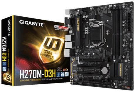 Main Gigabyte H270M-D3H (Chipset Intel H270/ Socket LGA1151/ VGA onboard)