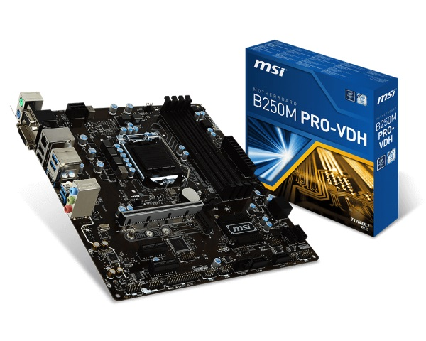 Main MSI B250M PRO-VDH (Chipset Intel B250/ Socket LGA1151/ VGA onboard)