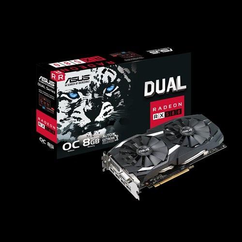 Main Asus DUAL-RX580-O8G (AMD Radeon/ 8Gb/ DDR5/ 256 Bits)