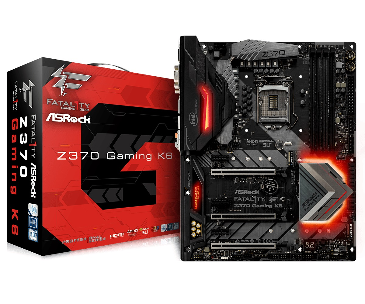 Main Asrock Z370 Gaming K6 (Chipset Intel Z370/ Socket LGA1151/ VGA onboard)