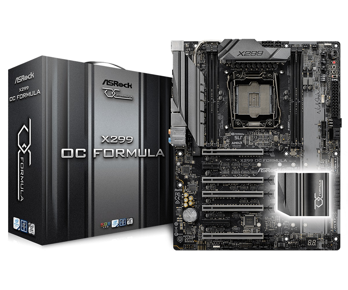 Main Asrock X299 OC Formula (Chipset Intel X299/ Socket LGA2066/ None VGA)