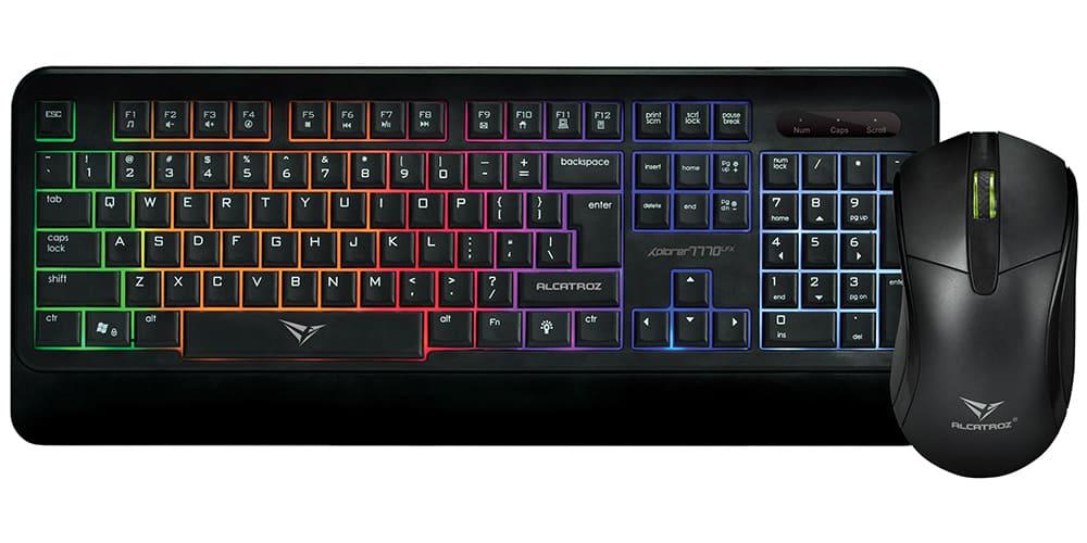 Bộ bàn phím chuột Alcatroz XPLORER 7770 LFX (USB)