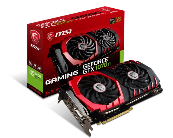 VGA MSI GTX 1070 Ti Gaming 8G (NVIDIA Geforce/ 8Gb/ DDR5/ 256Bit)