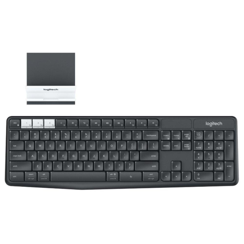Bàn phím không dây Logitech K375S Màu đen (Bluetooth, Wireless, Không dây )