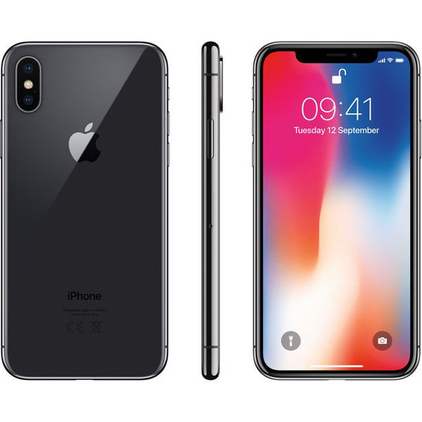 Apple iPhone X  (Gray)- 5.8Inch/ 256Gb/ 1 sim