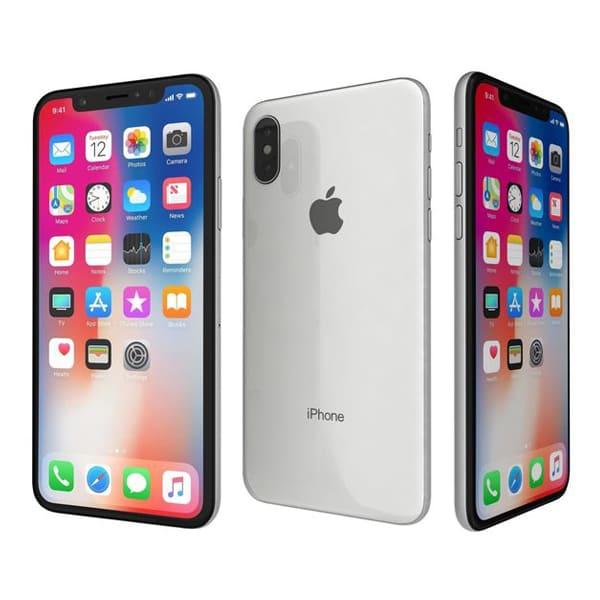 Apple iPhone X  (Silver)- 5.8Inch/ 256Gb/ 1 sim