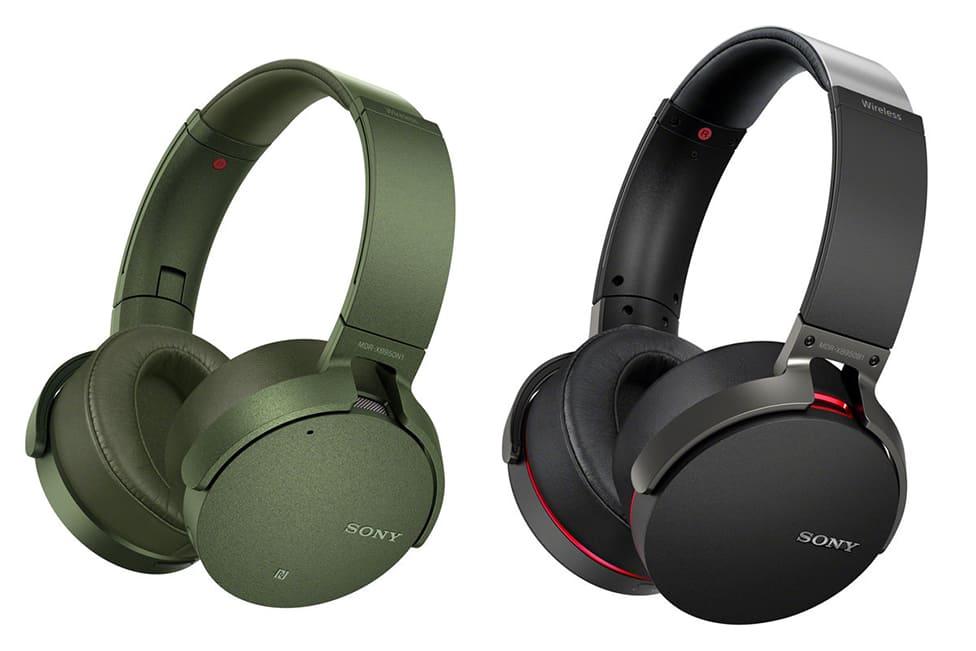 Tai nghe không dây Sony MDR-XB950N1 (Đen, Xanh rêu)