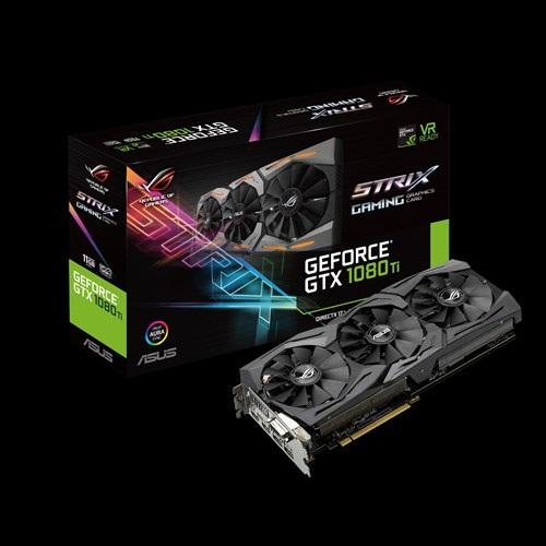 VGA Asus ROG-STRIX GTX1080TI-11G-GAMING (NVIDIA Geforce/ 11Gb/ DDR5X/ 352Bit)