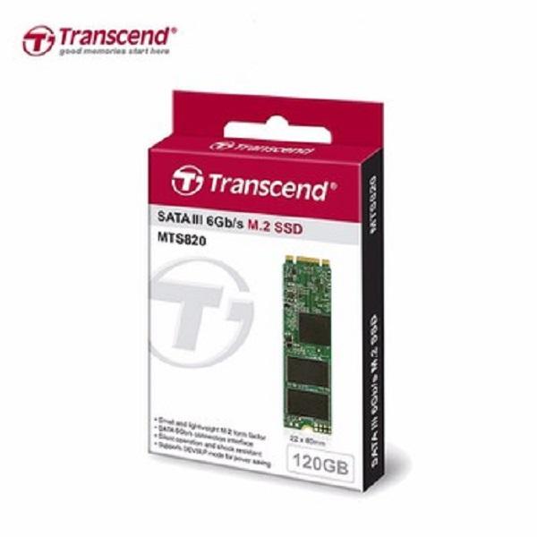 Ổ SSD Transcend MTS820 120Gb M2.2280 (đọc: 560MB/s /ghi: 520MB/s)