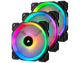 Quạt case Corsair LL120 RGB 120mm  - 3 Fan Pack with Lighting Node PRO