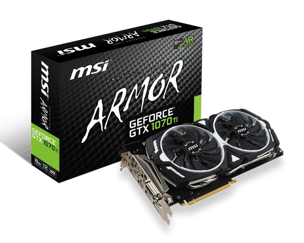 VGA MSI GTX 1070 Ti ARMOR 8G (NVIDIA Geforce/ 8Gb/ DDR5/ 256Bit)