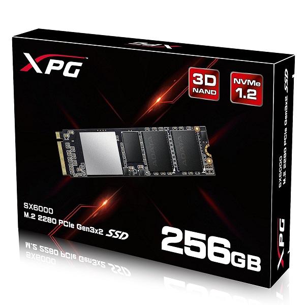 Ổ SSD Adata XPG SX6000 256Gb M2.2280 PCIe (đọc: 1000MB/s /ghi: 800MB/s)