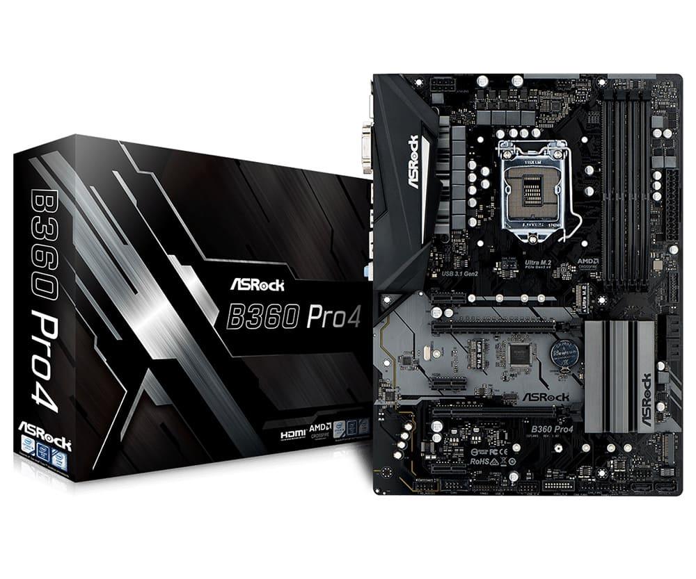 Main Asrock B360M Pro4 (Chipset Intel B360/ Socket LGA1151/ VGA onboard)