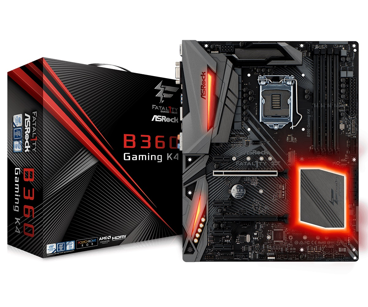 Main Asrock B360 Gaming K4 (Chipset Intel B360/ Socket LGA1151/ VGA onboard)