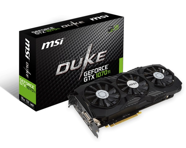 VGA MSI GTX 1070 Ti DUKE 8G (NVIDIA Geforce/ 8Gb/ DDR5/ 256Bit)