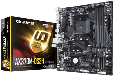Main Gigabyte AX370M-DS3H (Chipset AMD X370/ Socket AM4/ VGA onboard)