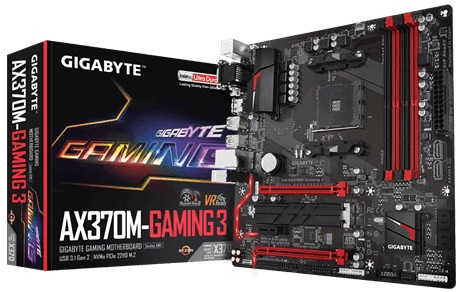 Main Gigabyte AX370M-Gaming 3 (Chipset AMD X370/ Socket AM4/ VGA onboard)