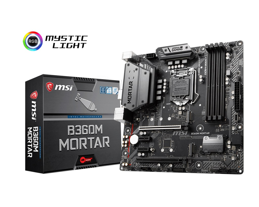 Main MSI B360M MORTAR (Chipset Intel B360/ Socket LGA1151/ VGA onboard)