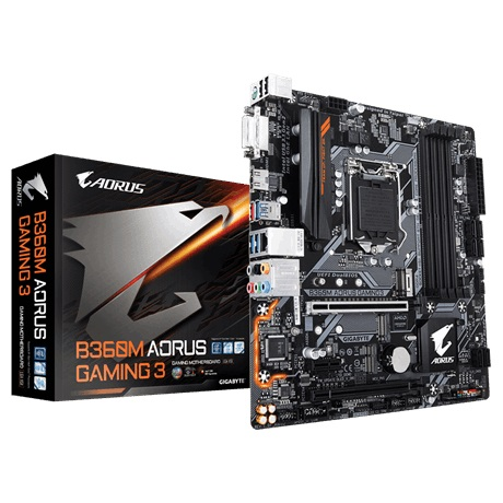 Main Gigabyte B360M AORUS Gaming 3 (Chipset Intel B360/ Socket LGA1151/ VGA onboard)