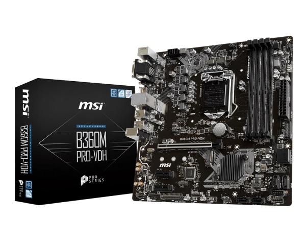 Main MSI B360M PRO-VDH (Chipset Intel B360/ Socket LGA1151/ VGA onboard)