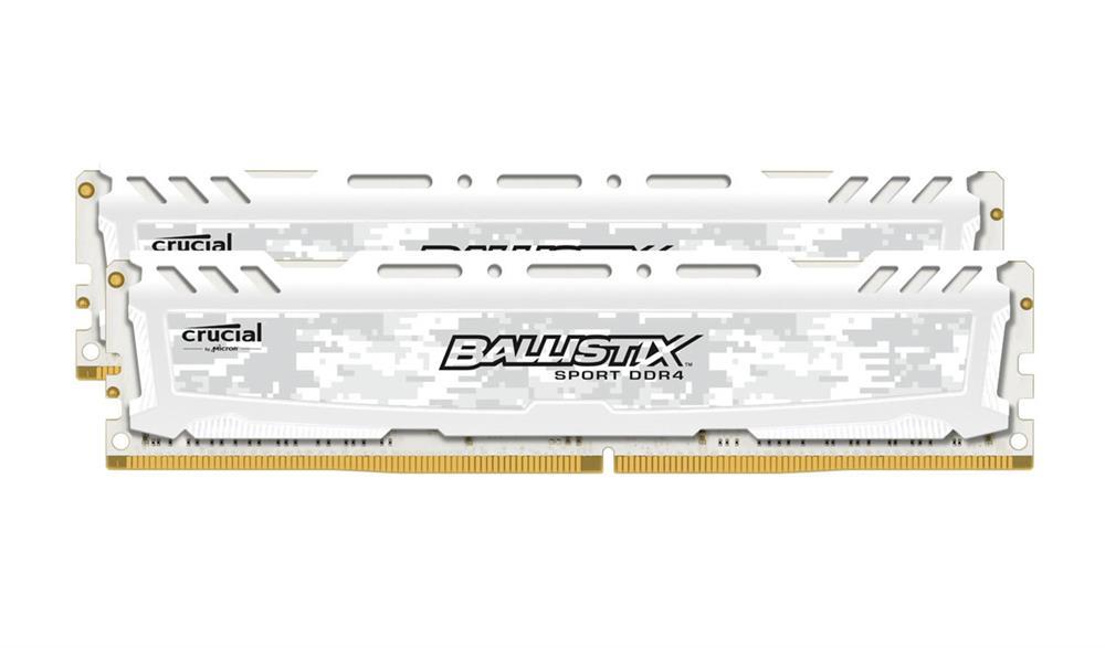 RAM Crucial Ballistix Sport LT White (2x8)16Gb DDR4 2666 (BLS2K8G4D26BFSC)