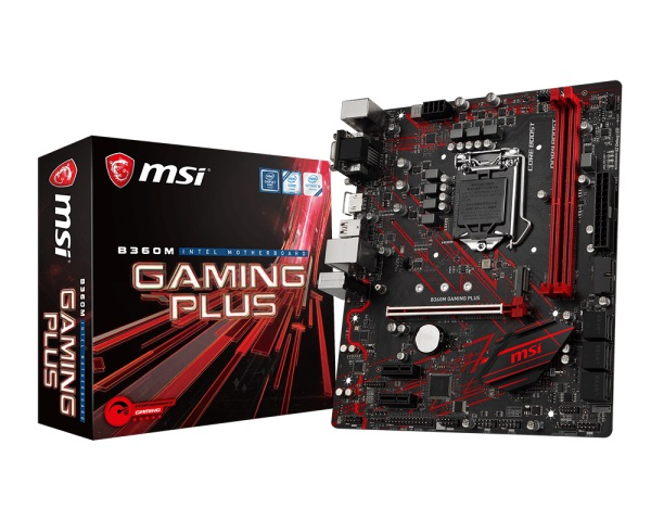Main MSI B360M GAMING PLUS (Chipset Intel B360/ Socket LGA1151/ VGA onboard)