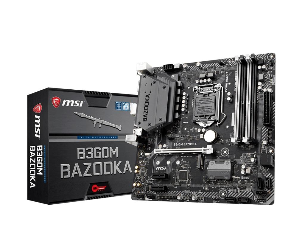Main MSI B360M BAZOOKA (Chipset Intel B360/ Socket LGA1151/ VGA onboard)
